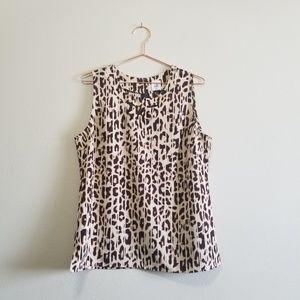 cabi Tops - cabi leopard animal print tank top